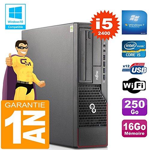 Fujitsu PC Esprimo E700 E90+ SFF Core I5-2400 RAM 16 Gb Scheibe 250 Gb Wifi W7