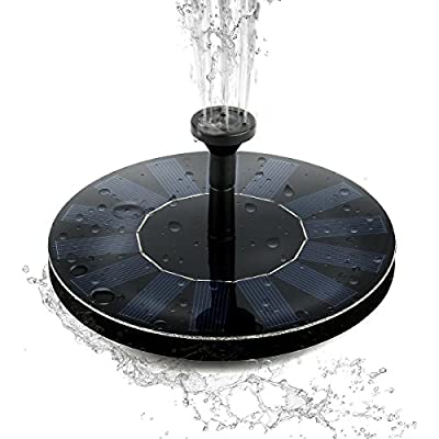 Solar Bird Bath Fountain Pump, Built-in 1000mAH Battery Outdoor Birdbath Watering Submersible Pumps Panel Kit for Garden and Patio/Pond, Pool, Garden,Fish Tank