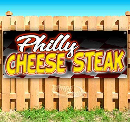 Philly sale Cheese Steak 13 oz Manufacturer direct delivery Heavy-Duty Banner Vinyl Non-Fabric