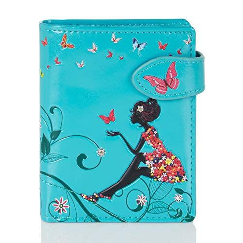 Shagwear Junge-Damen Geldbörse, mädchen geldbeutel Verschiedene Farben und Designs: (Schmetterling...