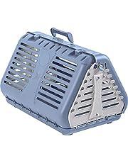 Rotho Toby, Caja de transporte plegable para gatos, perros pequeños y animales pequeños, Plástico PP sin BPA, azul, blanco, 53.4 x 42.5 x 12.4 cm