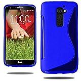annaPrime Etui Coque Housse pour LG G2 Mini, Coque Silicone Gel Motif S au Dos Couleur Bleu