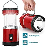 FINIVIVA 6 + 1 LED Emergency Solar Emergency Light Lantern with USB and Mobile Charging Cable, 2 Power Sources High Light Torch with Lithium Battery (Assorted Colour)