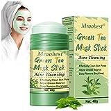 Green Mask Stick, Clay Mask, Deep Cleansing Mask, para limpieza del acné, eliminación profunda de puntos negros, ajuste del equilibrio de grasa
