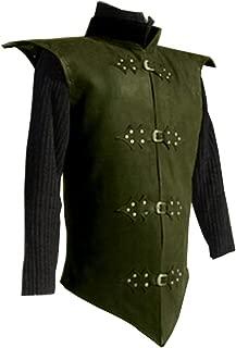 Shaoyao Men's Medieval Sleeveless Vest Renaissance Waistcoat