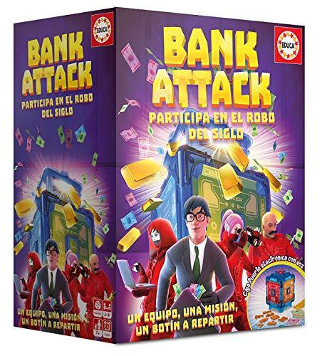 Educa Borrás - Bank Attack Juego de Mesa, Color versión española, color/modelo surtido (18349)