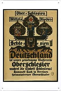 World War I One Tin Sign Metal Poster (reproduction) of Ober-Schlesien, Mittel-Schlesien, Nieder-Schlesien, Deutschland ist unsere gemeinsame Muttererde ...