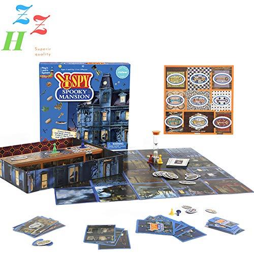 ZZH Juego Exclusivo Escape Room, Compendio Juegos Clásicos, Dados Juegos, Juegos Mesa, Principiante, Paquete Familiar 1-4 Jugadores, Edades 8,A