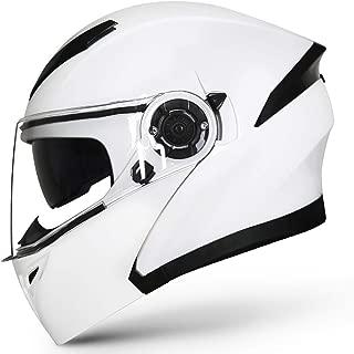 Laikeone Motorbike Helmets Flip Up Modular Helmet Full Face Anti-Fog Visor Modular Flip Helmets Four Seasons Universal DOT Approved