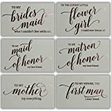 Wedding Party Thank You Cards - Beautifully Foil Stamped Letterpress in Rose Gold - 13 Cards + Envelopes Included - Perfect Way to Say Thanks to Friends & Family