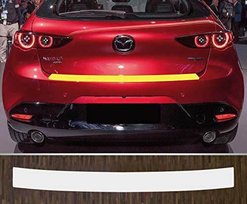 passgenau für Mazda 3 Schrägheck Limousine ab 2019 Lackschutzfolie Ladekantenschutz transparent