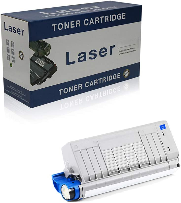 Compatible Toner Cartridges Replacement for OKI C721DN 46507616 46507615 46507614 46507613 for Use with OKI C712N C712DN Printer,Cyan