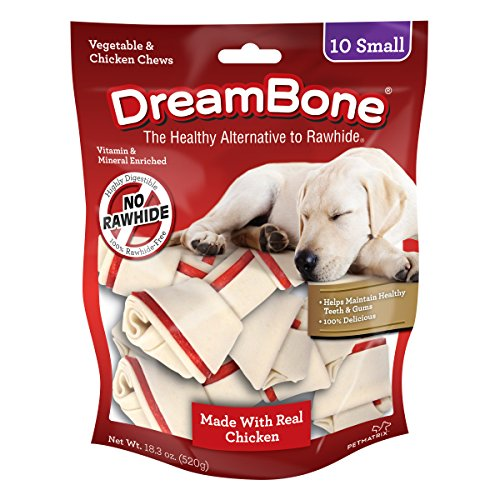 DreamBone Vegetable & Chicken Dog Chews, Rawhide Free, Small, 10-Count (DBC-02029)