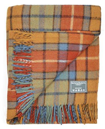 The Tartan Blanket Co. Couverture recyclée en Laine – Style Tartan écossais Buchanan Antique
