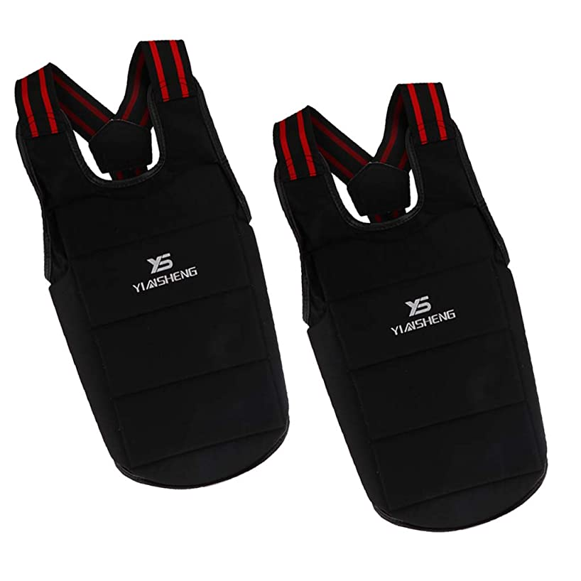 Prettyia 2PCS Professional Karate Chest Body Protector Guard Vest for Women Men Youth 160cm-175cm Height