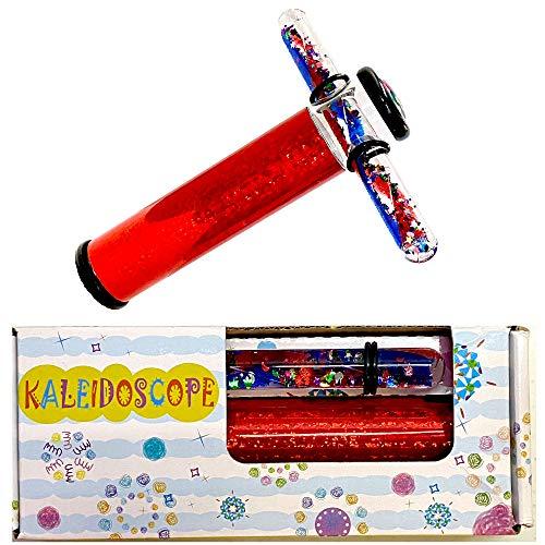 Star Magic Liquid Kaleidoscope Tube - Glitter Wand Kaleidoscope-Continuous Movement Kaleidoscope, (ONE Random Colored in Gift Box)