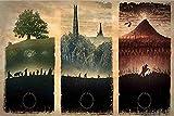 Bahndad La trilogie du Seigneur des Anneaux Puzzle pour enfants adultes jeu de puzzle 1000 pièces Puzzle en bois Jeu de puzzle éducatif