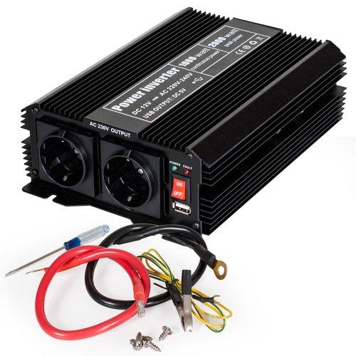 TecTake 800115 Spannungswandler Wechselrichter Inverter 12 V auf 230 V - Diverse Modelle - (Typ 1 | Nr. 400976)