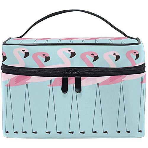 Grand sac de maquillage organisateur Animal tropical rose flamant rose étui à cosmétiques sac de rangement de toilette poche à fermeture éclair poche voyage brosse sac