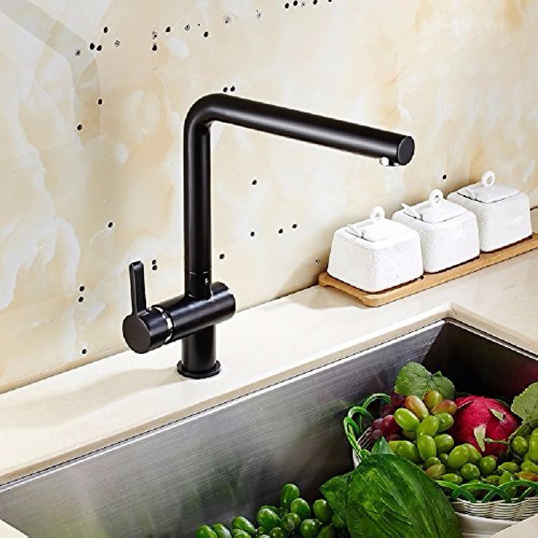 Bijjaladeva Wasserhahn Bad Wasserfall Mischbatterie Waschbecken Waschtisch Armatur für BadSpüle Wasserhahn Voll Kupfer Lack Mischen von heiem und kaltem Wasser Kitchen Sink Mixer
