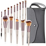 Makeup Brushes Set, 15PCs Cosmetic Brushes With Tote Storage Bag For Foundation Blending