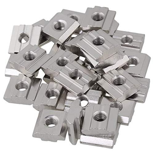 30 Stück T Mutter 30 Typ M6 Verschiebbare T Nutmutter Nutenstein M6 Kohlenstoffstahl Schiebe T Nut Mutter für Aluminiumprofil Zubehör der EuropäIschen Standard 30 Serie