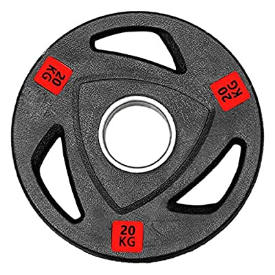 POROPL 44lb Standard Olympic Plate 2-Inch Bumper Weight Plate for Strength Training, Weightlifting,Various Sizes