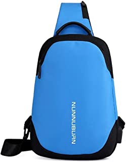 JDFHSD Backpack, Anti-Scratch Waterproof Crossboby Shoulder Pack for Outdoor Cycling, Running, Hiking, Climbing and Travel (Color : Blue)