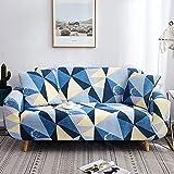 ASCV Funda de sofá geométrica elástica elástica Moderna Funda de sofá para Silla Fundas de sofá para Sala de Estar Protector de Muebles A2 1 Plaza