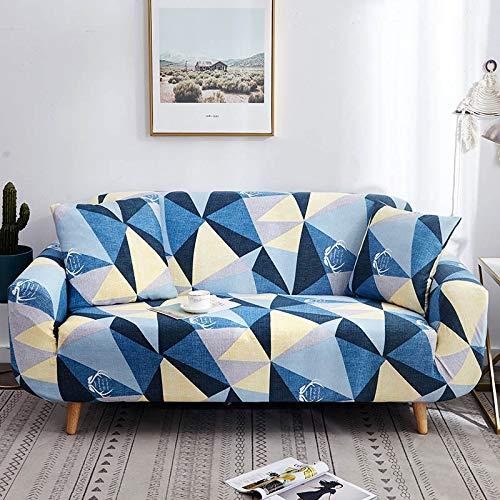 ASCV Funda de sofá geométrica elástica elástica Moderna Funda de sofá para Silla Fundas de sofá para Sala de Estar Protector de Muebles A2 4 plazas