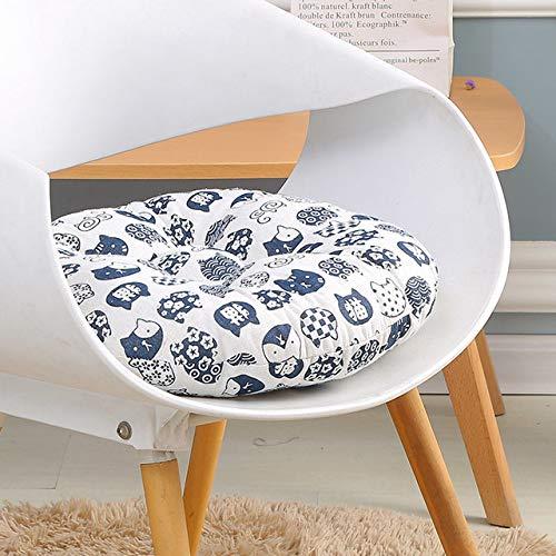 shiyueNB Sofa Decoratief kussen Japanse stijl stoel kussen auto pad rond katoenen kussen verdikkbare zachte keukenkruk kussen stoel 48x48cm Baifu Zeven haren