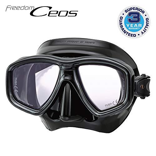TUSA M-212 Freedom CEOS Pro Scuba Diving Mask, Black/Black
