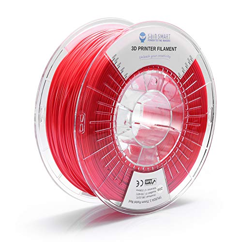 SainSmart TPU 1.75mm 92A Flexible TPU 3D Printer Filament, Dimensional Accuracy +/- 0.04 mm, 1KG, Pastel Red