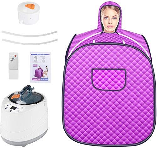 InLoveArts Set spa portatile per sauna a vapore, piroscafo pieghevole da 2L 1000W, cerniera a doppia faccia, impermeabile, resistente al calore e durevole, adatto per perdita di peso/disintossicazione