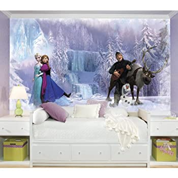 RoomMates JL1321M Disney Frozen Water Activated Removable Wall Mural-10.5 x 6 ft Mural