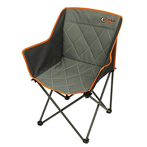 Portal Tom campingstoel bekleed vouwstoel visstoel tuinstoel klapstoel