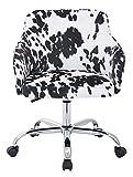OSP Home Furnishings Bristol Chrome Base Upholstered Task Chair, Udder Madness Domino