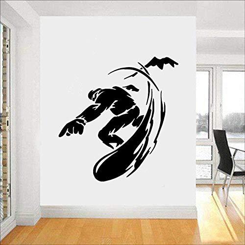 YFKSLAY Sport Wandaufkleber Snowboard Snowboard Wintersport Vinyl Wandkunst Aufkleber Schlafzimmer Junge Abziehbilder Schlafzimmer Dekorative Wandkunst 55 * 57cm