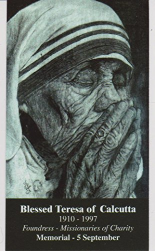 Saint Mother Teresa of Calcutta Quotes Holy Card Wallet Size