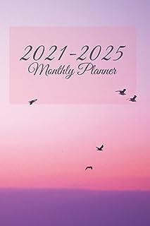 2021-2025 monthly planner: Five Years 60 Months Calendar Monthly Planner Schedule Organizer Academic Schedule Agenda Logbook
