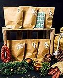 Wurstmacher Wurst Adventskalender 2019 aus handwerklicher Herstellung - 24 hochwertige Deutsche Wurstspezialitäten, Snack Fleisch Advent Kalender im Wert von über 200 €, in 24 nummerierten Papiertüten