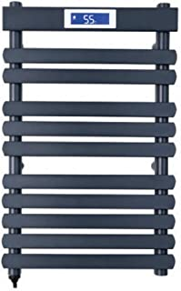 DSHUJC Hanging Towel Rack Minimalist Bathroom Flat Panel Heated Towel Rail, Radiator, Modern Central Heating Space Saving Radiators Perfect for Bathrooms,Gray