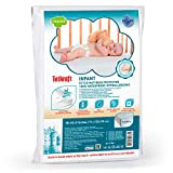 Tatkraft Infant Ultra Soft Crib Mattress Protector   Waterproof Crib Mattress Cover   Crib Mattress Pad   Baby Fitted Mattress Protector, Hypoallergenic, Breathable, Bamboo 28 X 52 X 9
