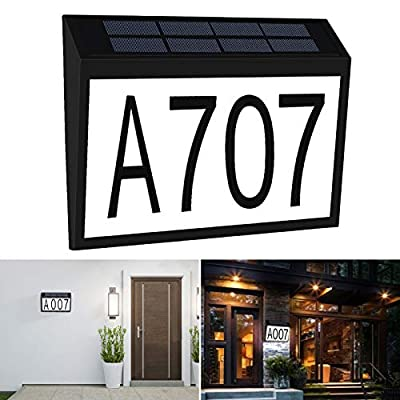 Aflifli Solar House Number Light Waterproof, Wa...