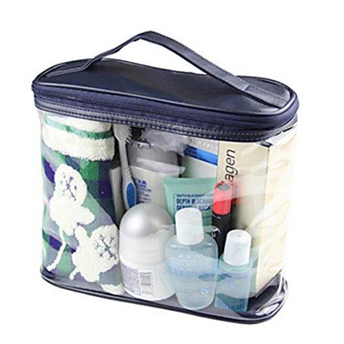 bleu sac de lavage transparent sac cosmétique sac dames sac à main en vrac les hommes voyagent