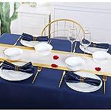 DUJUST Juego de vajilla para 4, juego de platos europeos de lujo con adornos dorados, platos y cuencos de color blanco brillante, 4 platos de cena, 4 platos de ensalada, 4 cuencos