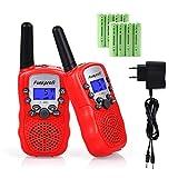 Funkprofi 2X T-388 - Walkie Talkie para niños PMR 446 con batería, Cable de Carga, Alcance de 3 km, 8 Canales, Juguete y Regalo para niños a Partir de 3 años