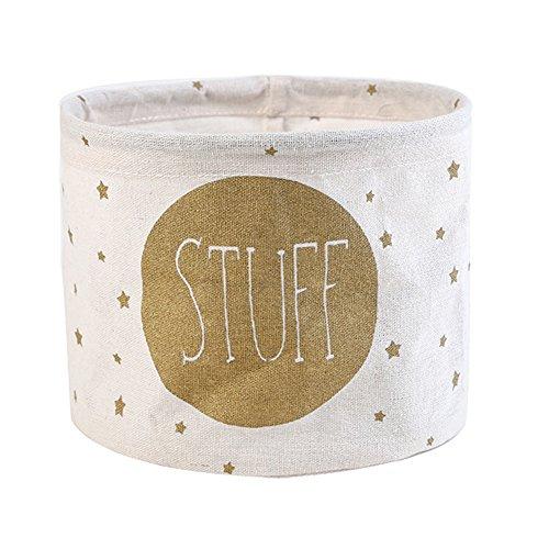 Boîte de rangement multifonctions en lin - Fablcrew, Drap en coton, blanc, 19*15cm
