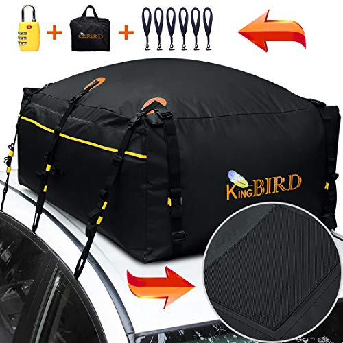 KING BIRD 100% Waterproof Roof Bag with External Non-Slip Mats, 20 Cubic...