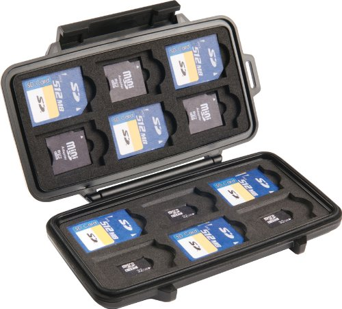 Pelican 0915 SD Memory Card Case (Black)